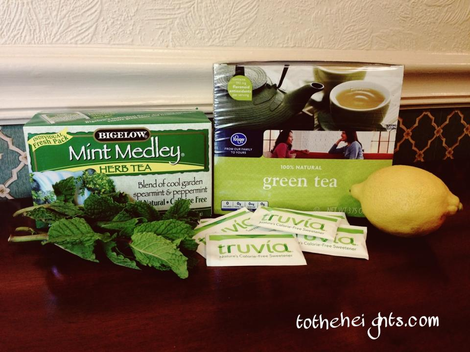 Green and Mint Tea Ingredients