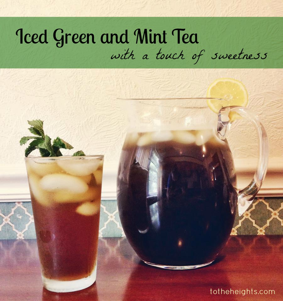 Iced Green and Mint Tea