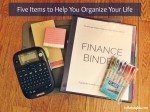Five Items to Help You Organize Your Life