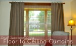 Small Apartment Living: Floor to Ceiling Curtains