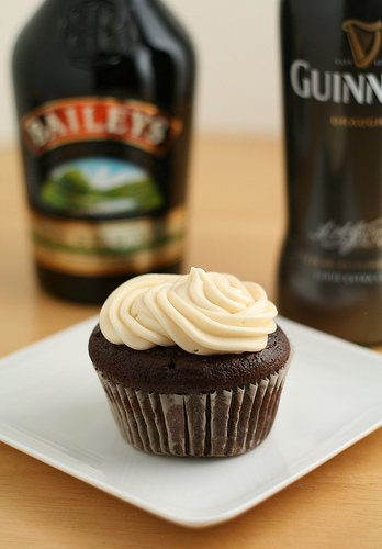 Bailey's and Guiness Cupcakes.