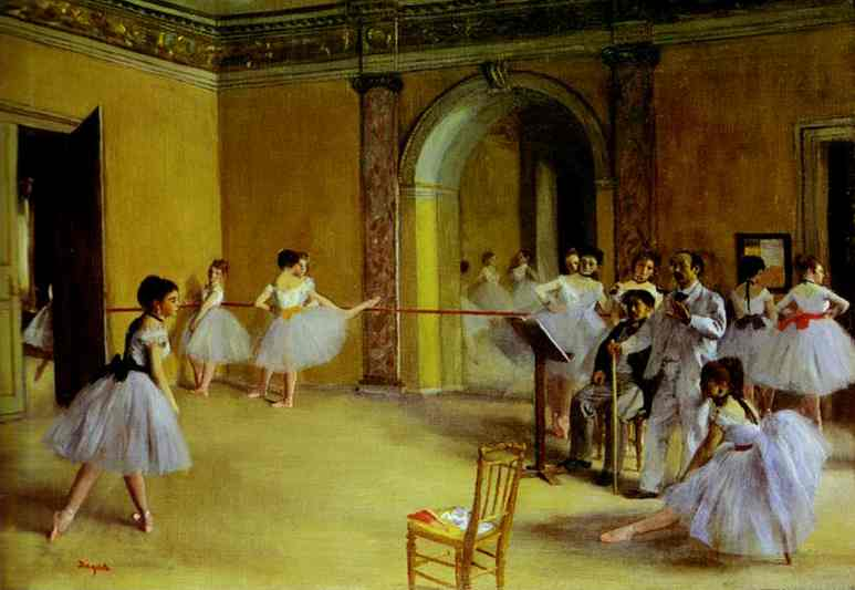 Ballet Rehearsal on the Set.  Degas.