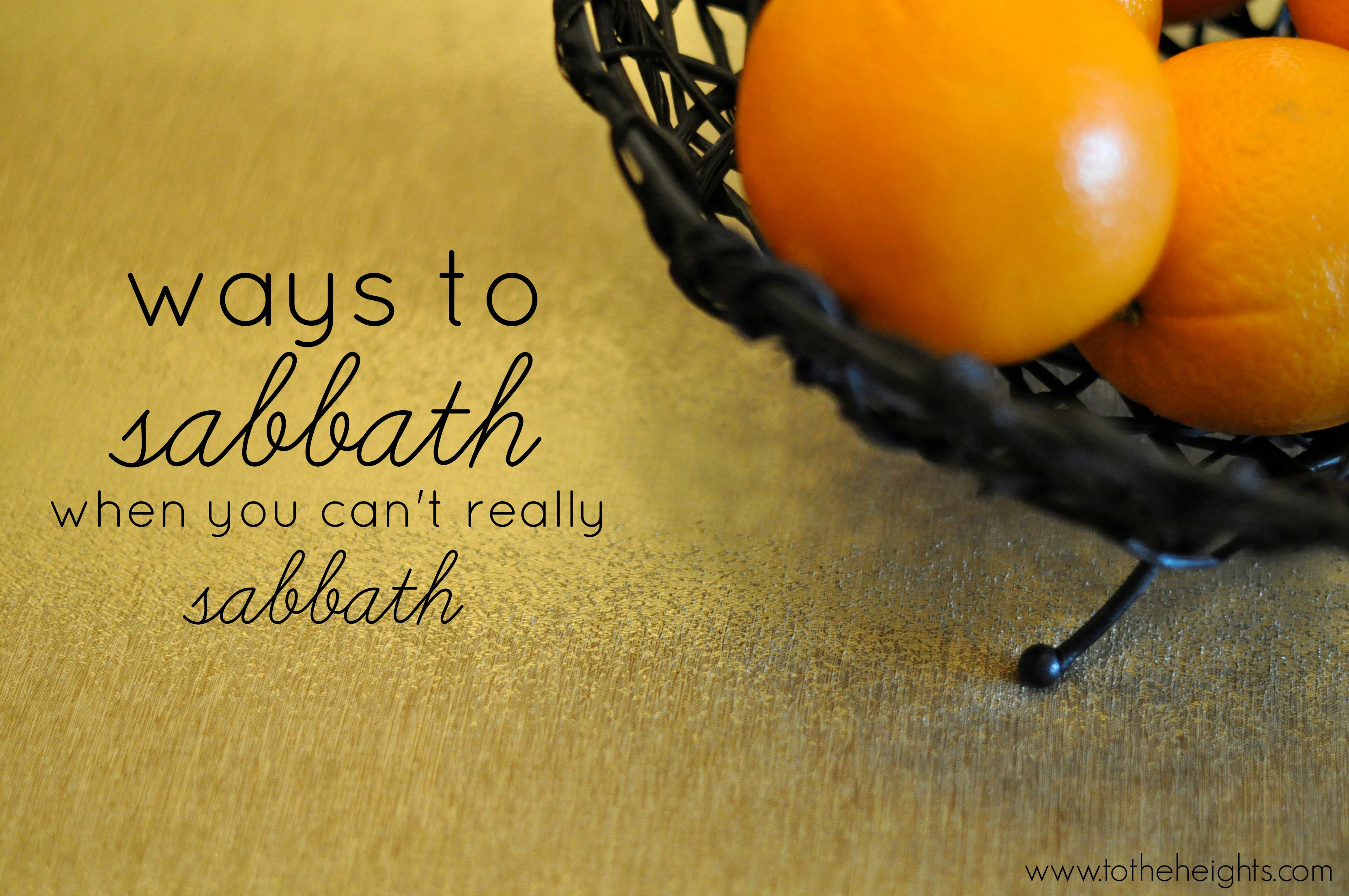 how-to-sabbath