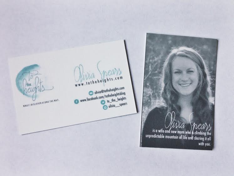 I felt weird about getting business cards for this little blog, but then Danielle Burkleo made me feel like a rockstar, as she always does.